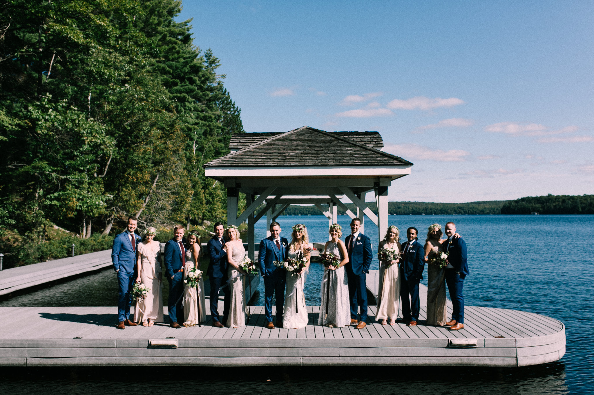 Muskoka lakeside wedding at Port Cunnington Lodge by Max Wong Photo (40)