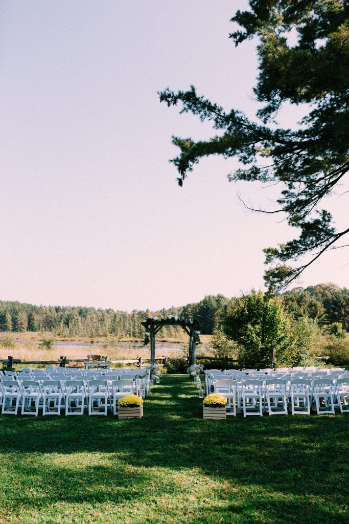 wedding arch at brooklands farms
