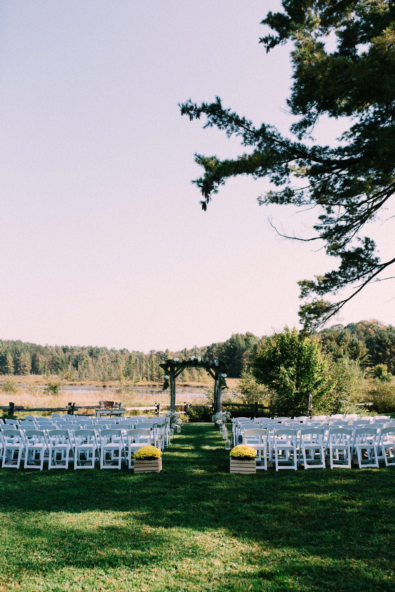 wedding arch at brooklands farms
