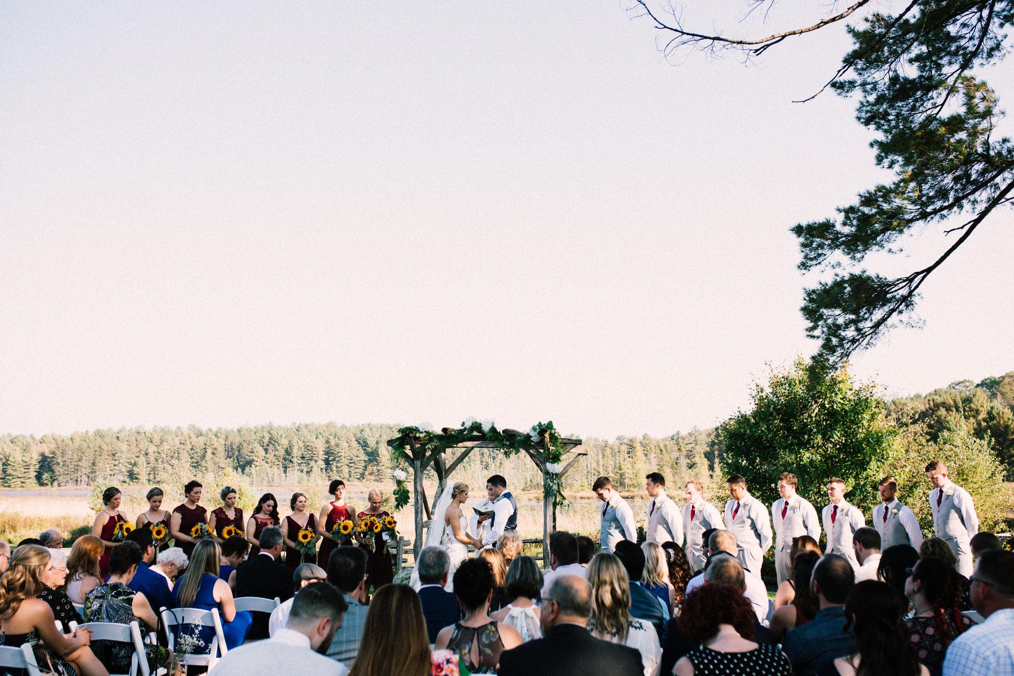 Muskoka rustic farm wedding
