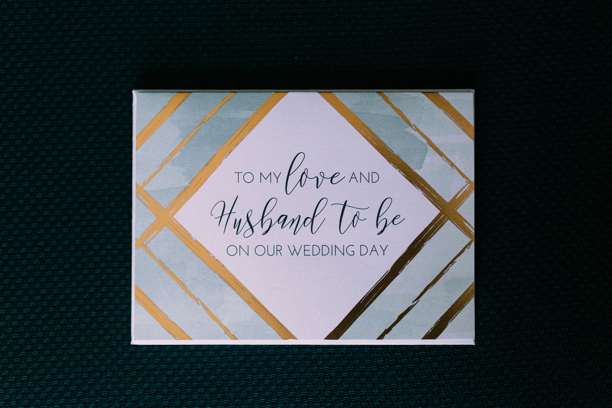 card from bride to husband on wedding day