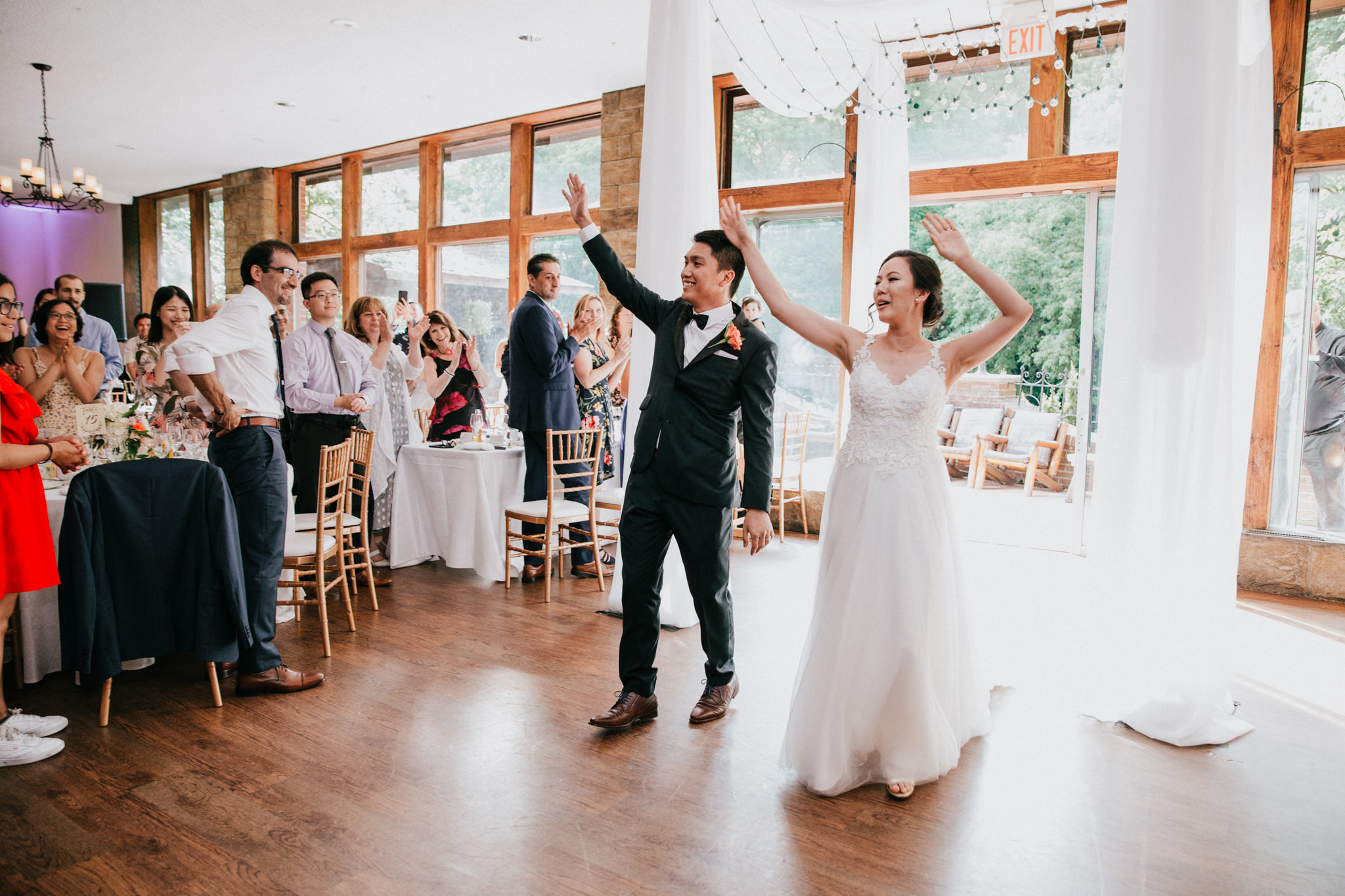 bride and groom dancing during entrance
